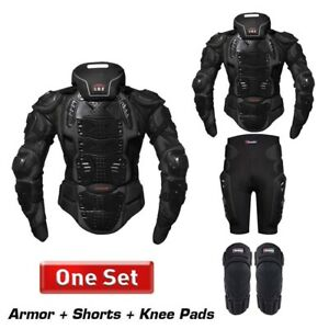 Men Motorcycle Armor Protection Jackets Body Protective Gear With Neck Protector
