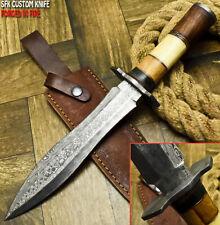 SFK Hand Made Damascus Steel Camel Bone Hunting Dagger Knife
