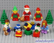 LEGO - 15 pcs XMas Lot - Holiday Gift Santa Claus Elf Boy Girl Train Minifigure