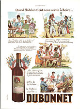 Publicité ancienne Dubonnet la madelon 1938 Joé Hamman issue de magazine