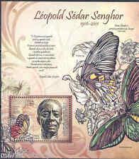 GUINEA BISSAU 2012 LEOPOLD SEDAR SENGHOR  SOUVENIR SHEET MINT NH