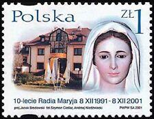 Poland 2001 Sc3617  Mi3948 0.90 MiEu  1v  mnh  Radio Maryja, 10th Anniv.