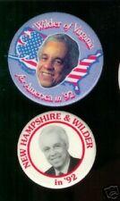 2 WILDER of Virginia President 1992 pins New Hampshire