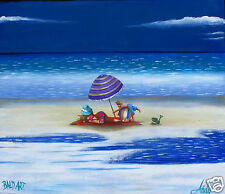 Seascape Art Painting  Beach print Poster Abstract Australia COA by Andy Baker
