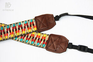 Handmad Vintage Indian style camera strap Neck Strap for DSLR EVIL Film Camera