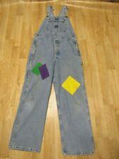 Riveted By Lee Jean Overalls Women's Size Large Regular Blue Denim Bib Med Wash