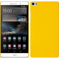 Custodia Rigida Huawei P8max - gommata giallo + pellicola protettiva