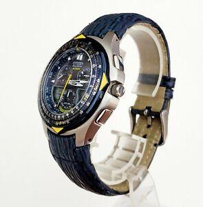 "Men's SOLAR Watch CITIZEN Eco-Drive ""Blue Angels"" C651-T000959. Hard Worn Band"
