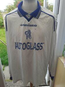 Chelsea 1998 Long Sleeved Away shirt  Size XXL Adult