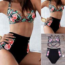 MUJER PUSH UP CON RELLENO Set de bikini bañador baño Cintura Alta talla grande