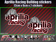 Aprilia Racing Bulldog Stickers x2 supermoto car van bike RS SR Tuono Falco