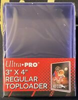 "(25) ULTRA PRO 3"" X 4"" CLEAR REGULAR TOPLOADERS (PACK OF 25)"
