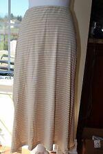 J.JILL maxi skirt XS Knit jersey rayon Handkerchief Hemline Lagenlook Long Beige