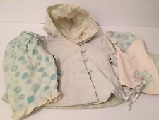 Mama's & Papas, 3 - 6 Month Girl, Jacket, Trousers, Top, blue, Asian Inspired,
