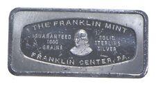 Franklin Mint Sterling Silver Art Bar - .925 - 65.3 Grams - *147