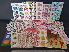 Huge Vintage Sticker Lot Hallmark Eureka Cats Bears Mrs Grossman Amscan Mix