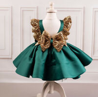 USA Girls Toddler Baby Dress Princess Sequin Party Birthday Pageant Kids Dress