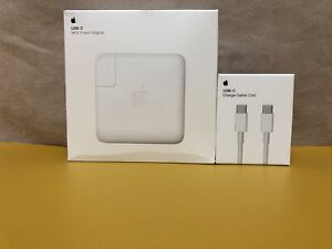 BNIB Apple 96W USB C Power Adapter MacBook Air/Pro Charger A2166 & 2M USBC Cable