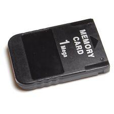 2 x Black Playstation PS1 Memory card 1MB Mem PSone PSX PS PS2 compatible New