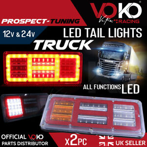 NEW TRUCK LED 12V 24V Rear Tail Lights FULL LED LAMPS UK brake reverse VKZI14