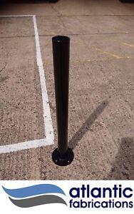 Steel bollard, bolt down 76mm black, parking post security