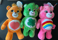 "2020 Care Bears Bean Plush Good Luck Bear Tenderheart Bear OR Cheer Bear 8"" - 9"""