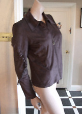 Joseph Ribkoff BNWT UK 10 Gorgeous Faux Suede Brown Western Style Zip-Up Jacket