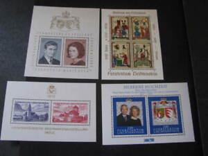 Liechtenstein Stamp 4 Souvenir Sheets Never Hinged Unused Lot 1