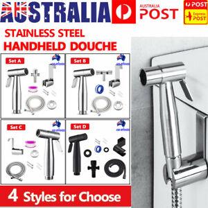 Stainless Steel Handheld Douche Bidet Toilet Spray Shower Shattaf Diverter Kit