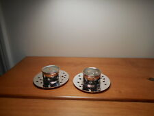 Silver Glowing Star Gift set holders for votives or tealights Partylite Bnib