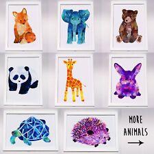 A4 Animal Nursery Print Baby Children Room Cute Wall Art Decor