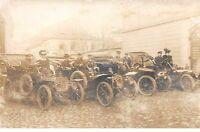 TRANSPORT .n°54450. Automobile chauffeurs.passagés. carte photo