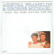 """Aretha FRANKLIN & George MICHAEL Vinyl 45T 7"""" KNEW YOU WERE WAITING -EPIC 650253"""