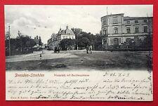 AK DRESDEN Strehlen 1903 Wasaplatz und Residenzstrasse     ( 6495