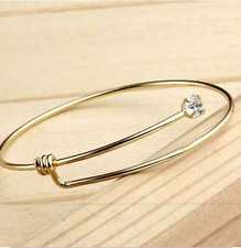 Dual Purpose Simple Elegance Gold Plated Bangle-Cuff (FSJA350GC)