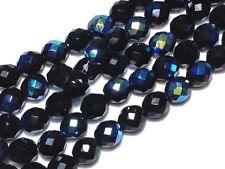 Czech Fire Polished Glass Bead 10mm Jet AB Czech Beads (25pc) BEADS & TOOLS