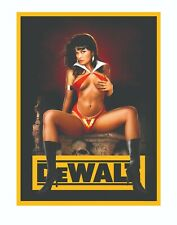 DEWALT TOOLS STICKER DECAL EVIL SEXY GIRL MECHANIC GLOSSY LABEL TOOL BOX USA