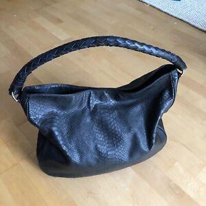 LILI RADU Hobo Bag, schwarz, Damen Ledertasche Shopper, mit Lederiemen & Beutel