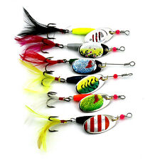 Colorful 6pcs Trout Spoon Metal Fishing Lures Spinner Baits Bass Salmon Tackle