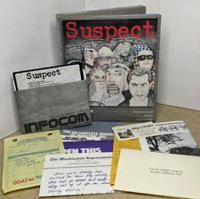 Suspect (Apple II 1984 Infocom) w/ Box, Reference Card, and Feelies
