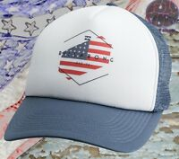 New Billabong Mixup American Flag Mens Snapback Trucker Cap Hat