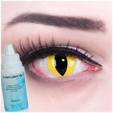 """Crazy Farbige Kontaktlinsen fun gelb-schwarze """"Cat Eye"""" Katzenaugen, Halloween"""