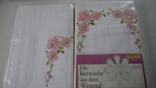 6 tlg. Aussteuer Bettwäsche - Süddeutsche Qualitätswäsche mit Stickerei NEU