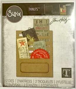 TIM HOLTZ CUT EMBOSS & STENCIL THIN DIES ~STITCHED SLOTS CODE 662697