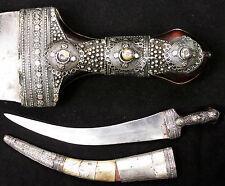 Antique Vintage Wahabite Jambiya Khanjar Dharia Dagger Knife Arab Hijaz Arabia