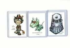 DOCTOR WHO TV (3 CARDS) ART PRINTS TOM BAKER K-9 DALEK BBC RAK