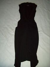 Ladies Black Wrap Tulip Dress Size S/M