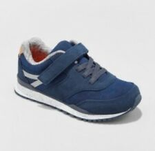 New Cat & Jack Chase Sneakers Elastic Closure Shoes Navy Toddler Boys Size 4