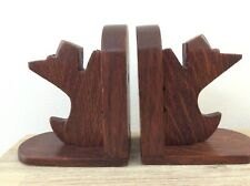 VINTAGE PAIR OF WOODEN SCOTTIE DOG BOOKENDS