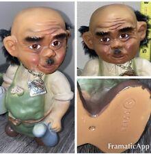 """HEICO Nodder Bartender Troll Doll West Germany Bald Bobblehead 1960's 8"""" 🍺 Vtg"""